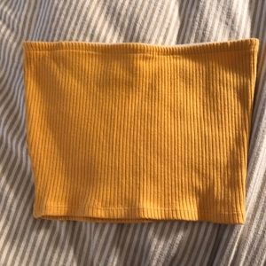 Yellow bandeau top - Urban Outfitters